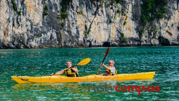 Kayaking, Halong Bay day trip - Bai Tu Long