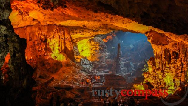 Cave visits are standard on all Haiong Bay cruises.