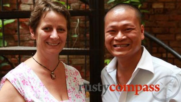 Tracey and Linh, the people behind Hanoi Cooking Centre.
