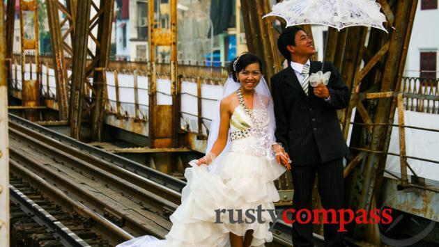 Wedding pics. Long Bien Bridge
