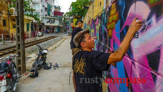 Graffiti artists, Hanoi
