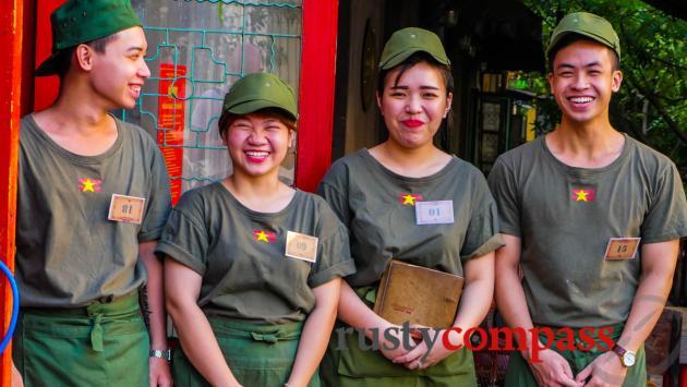 Military chic - Caphe Cong, Hanoi