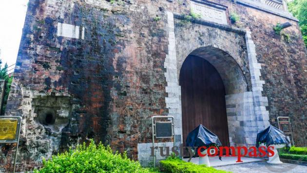 The battered Bac Mon gate, Hanoi Citadel