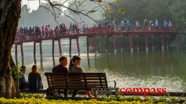 Hanoi's weekend walking precinct.