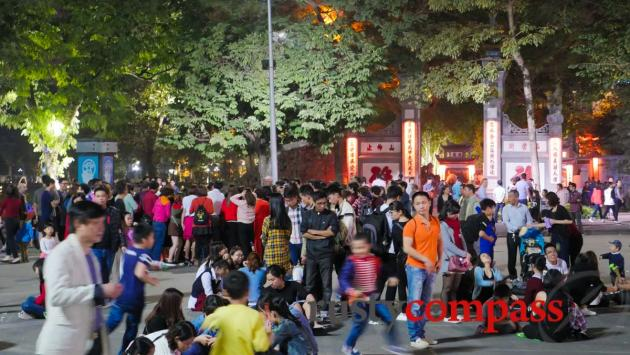 Hanoi's weekend walking precinct.