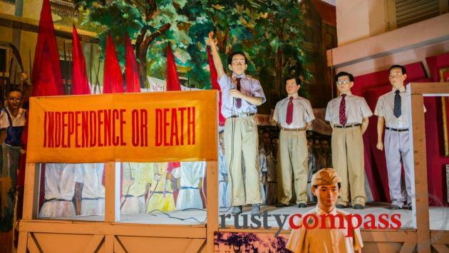 Ho Chi Minh City Museum - revolution exhibit