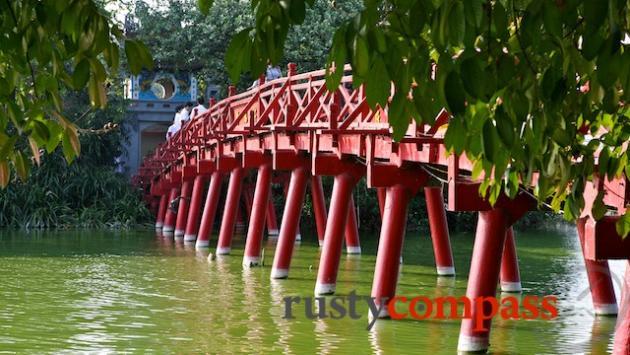 Ngoc Son Pagoda on Hoan Kiem Lake, Hanoi
