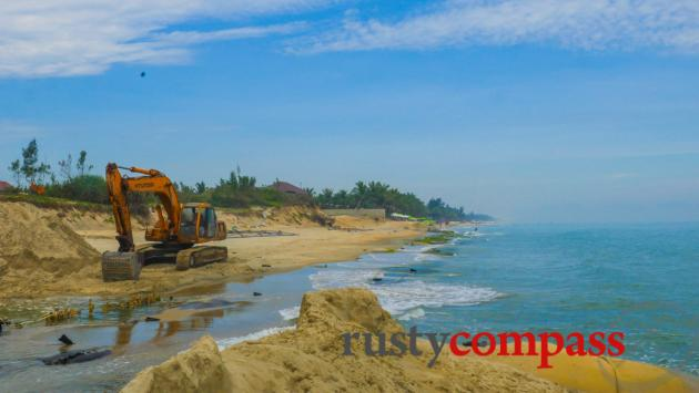Still working on streches of Cua Dai Beach - March 2017