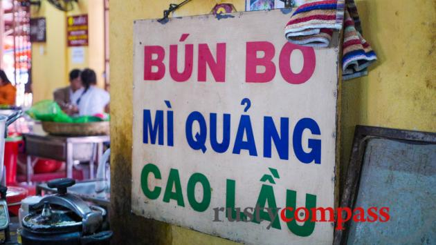 Bun Bo from Hue, Mi Quang and Cao Lau from Hoi An.