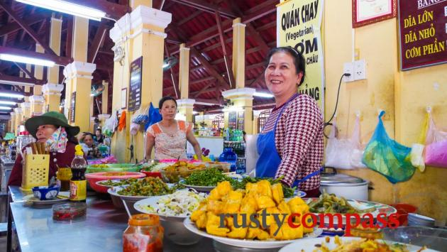 Vegetarian stall, Hoi An market