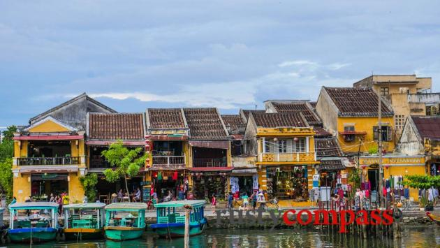 Hoi An riverfront - a restaurant strip