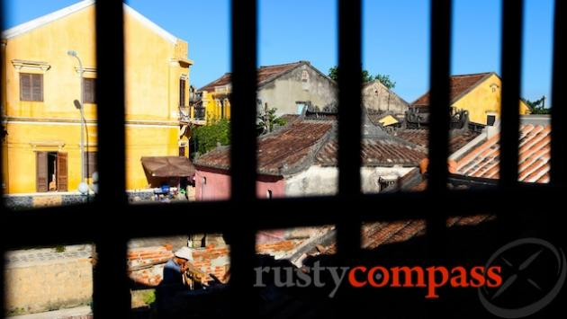 Across the Hoi An rooftops from Phung Hung House