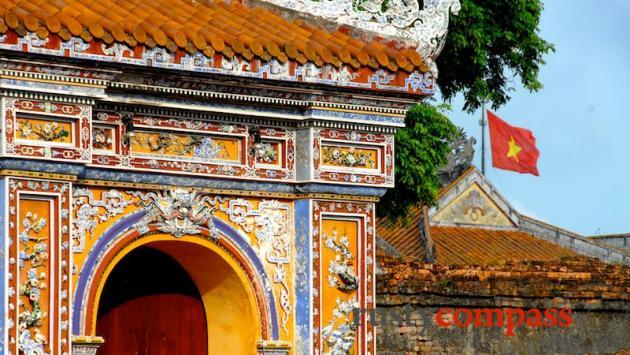 Western wall, Hue Citadel