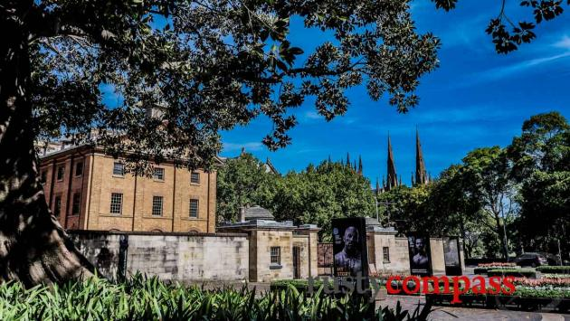 Hyde Park Barracks and the Spires at St Mary's - Sydney