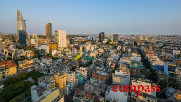 Saigon's skyline - the density is staggering.