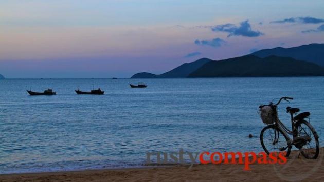 Sunset on Nha Trang beach
