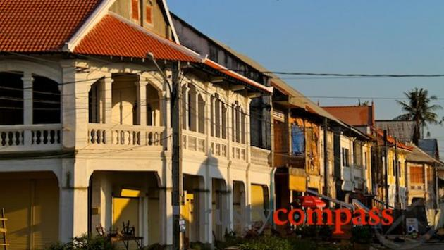 Shophouses on the Kampot riverfront