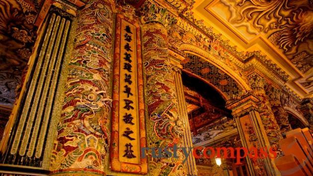 Interior of Khai Dinh's Tomb