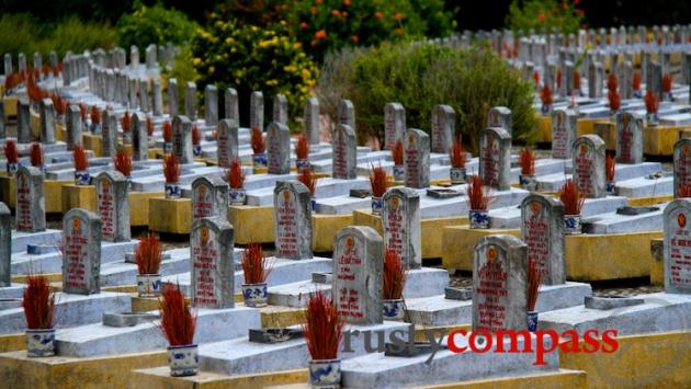 The massive Truong Son Cemetery