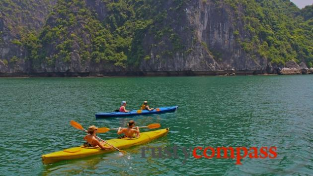 Kayaking, Lan Ha Bay off Cat Ba Island