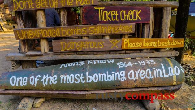 US bombs - Nong Khiaw, Laos
