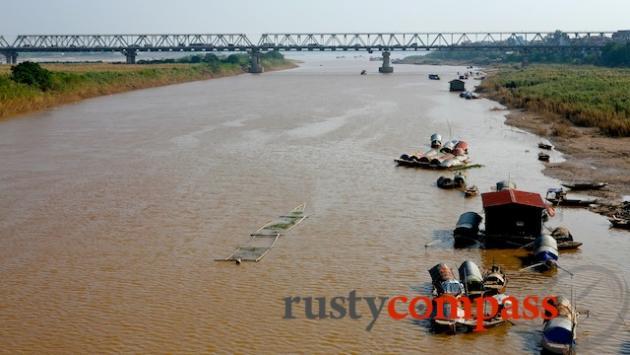 The Red River and Chuong Duong Bridge Long BIen Bridge, Hanoi