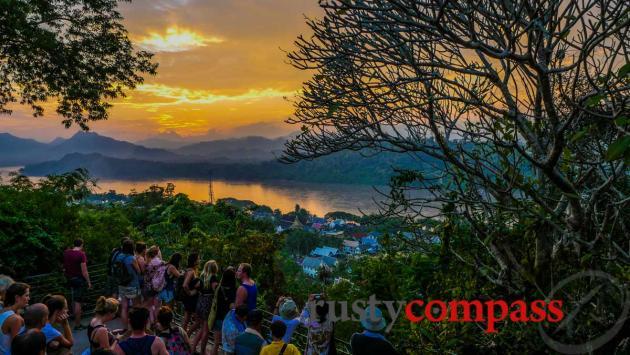 Mount Phou Si sunset, Luang Prabang