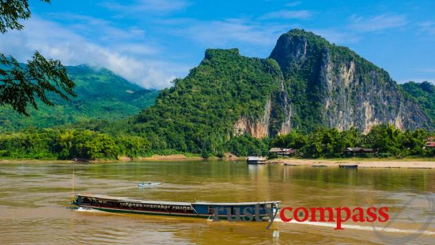 The Mekong and Nam Ou Rivers meet near Luang Prabang