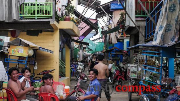 The local neighbourhood,  - ethnic Vietnamese village, Mekong Floating Bungalows, Phnom Penh
