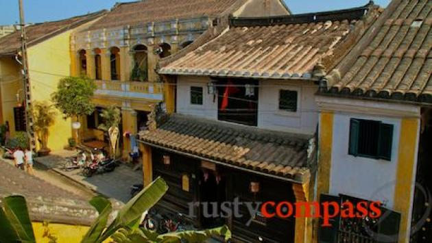 Hoi An's old streets from Morning Glory restaurant
