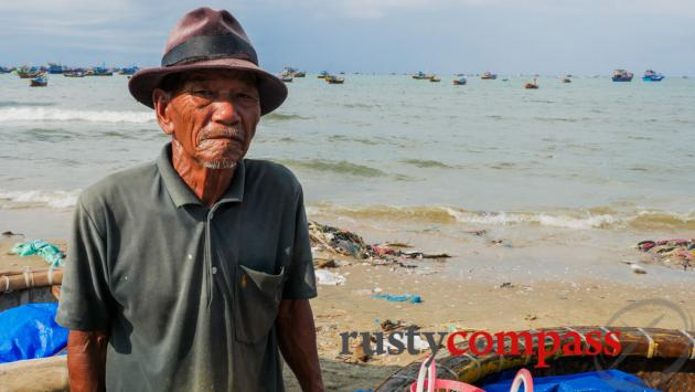 Old fisherman, Ham Tien, Mui Ne
