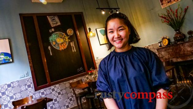 Kim - co-owner of Muoi Tieu Cafe Hanoi (Salt and Pepper Cafe)