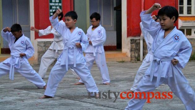Martial arts training, National School Hue