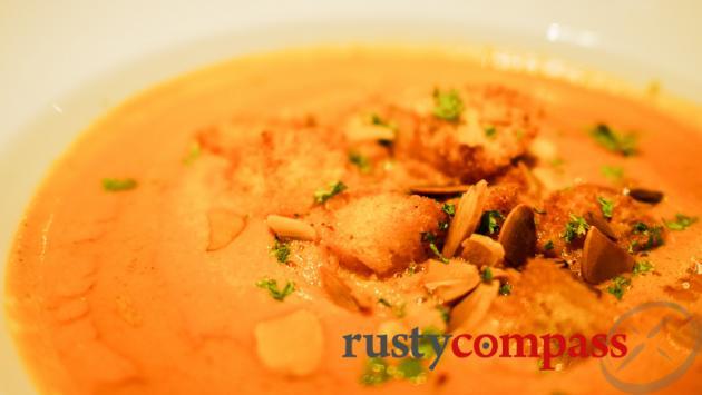 Pumpkin soup, Olive Restaurant, Siem Reap