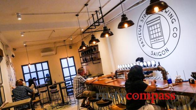 The tap room extension - Pasteur St Brewing, Saigon