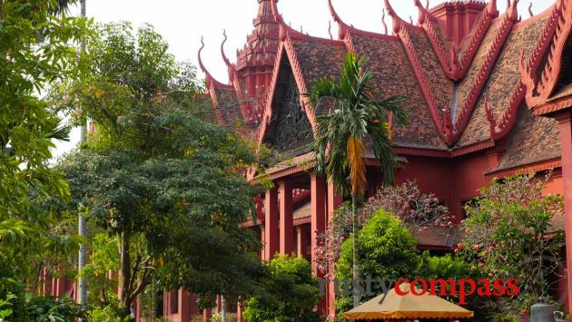 Phnom Penh's National Museum. A colonial structure with local flourishes.