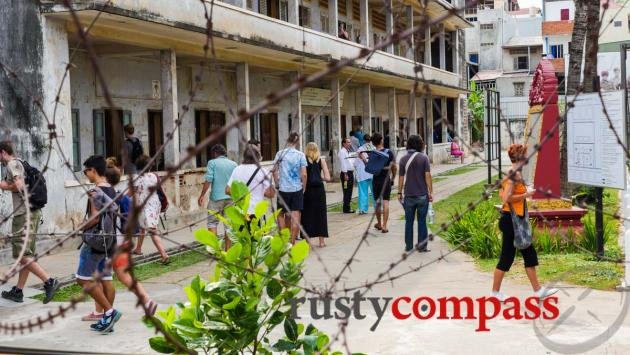 Tuol Sleng - school turned Khmer Rouge concentration camp.