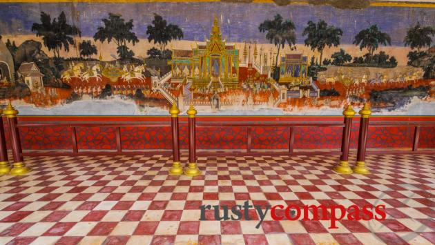 Frescoes - Royal Palace, Phnom Penh