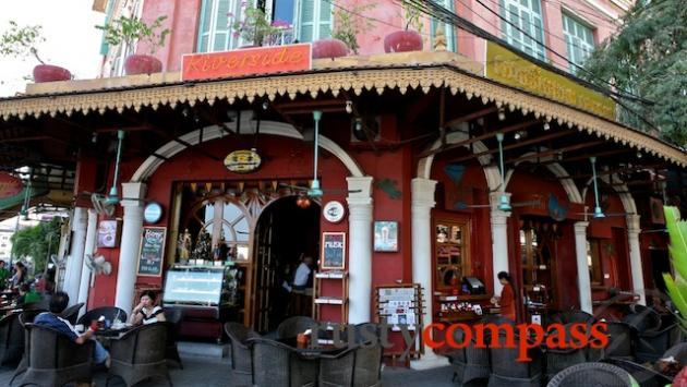 Riverside shophouses provide some of Phnom Penh's best eating and drinling spots.