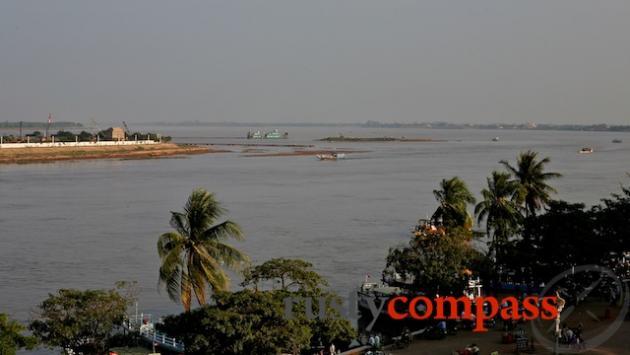 The Tonle Sap and Mekong Rivers meet, Phnom Penh