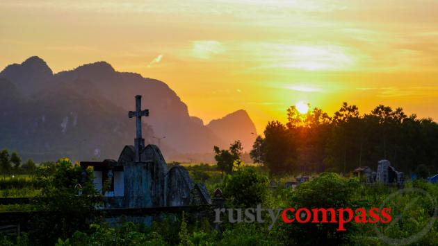 The Phong Nha area has a large Catholic population.