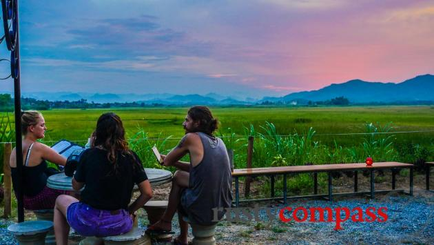 Sunset at Phong Nha Farmstay