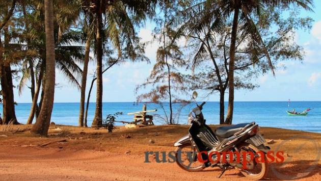 Motorbiking around the island.