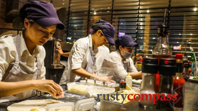 Production line, 4P's Pizza, Ben Thanh Market