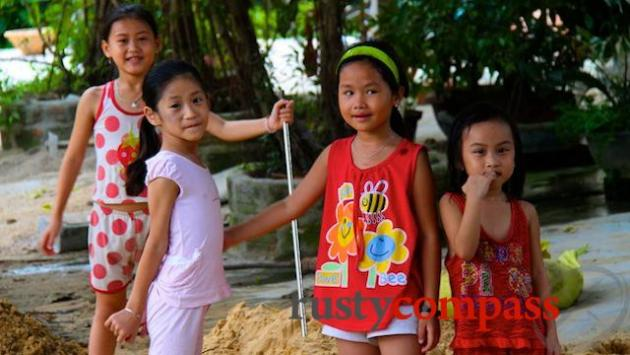 Kids at Quy Hoa village.