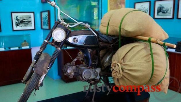Honda 67' motorbike used by revolutionaries. Binh Dinh Museum.