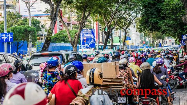 Saigon's traffic congestion gets worse by the day.