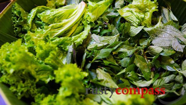 Fresh salads are part of the magic of Saigonese cuisine.