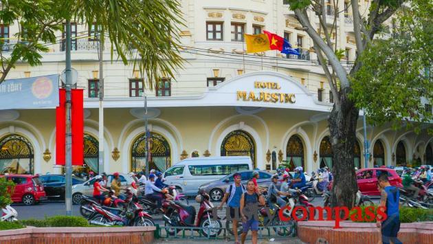 Majestic Hotel along the Saigon river walk