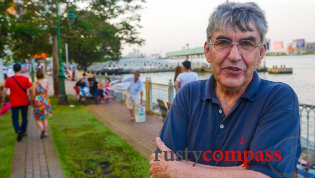 Met a US vet on the river walk. He returns to Saigon regularly.